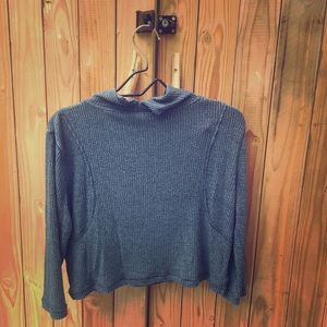 Free People Crop Turtle Neck